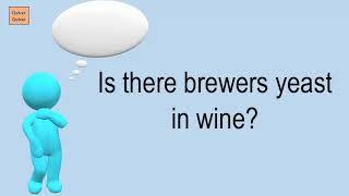Is There Brewers Yeast In Wine