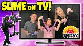 MAKING SLIME ON TV!!! Evan & Jillian on the Today Show!