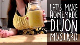 How to make homemade spicy Dijon Mustard with mustard seed and white wine | Doin' The Most
