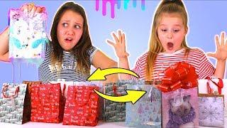 SLIME VS REAL CHRISTMAS PRESENT SWITCH UP CHALLENGE!! (Don't Choose Wrong One)