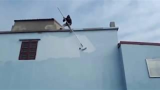 Most Dangerous Jobs Build House Construction - Amazing Fastest Painting Outside Wall