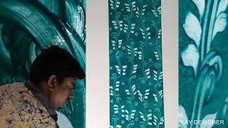 Wall Painting Designs with fingers Royal Play Asian Paints