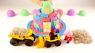 How To Make Kinetic Sand Dream House Mold vs Peppa Pig Toys Learn Colors Videos For Kids