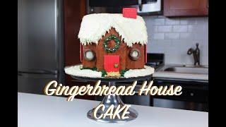 How To Make A Gingerbread House Cake | CHELSWEETS