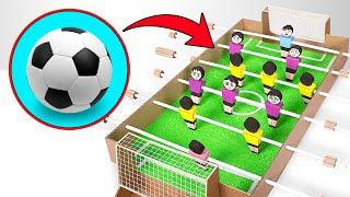 How to make football table game from cardboard ⚽