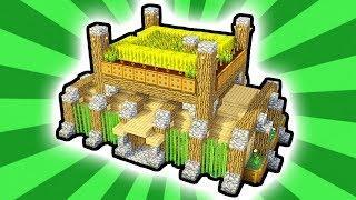Minecraft: How to Build an Advanced Farm/Garden Top House (Tutorial)