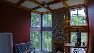 Painting walls red and oak trim white