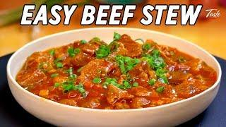 Easy Slow Cooked Beef Stew with Tomato • Taste The Chinese Recipes Show