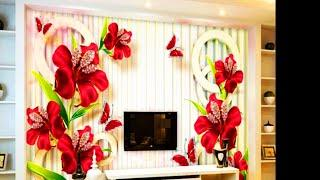 #Latest 5D wallpaper for livingroom bedroom|5D wallpaper ideas for home|BEAUTIFUL 5D wallpaper