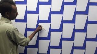 3d wall painting | 3d wall decoration effect | 3d wall texture new design ideas | interior design