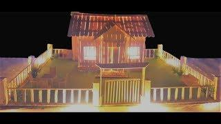 How To Make A Popsicle Stick House With Amazing Lighting Beautiful House Ligting