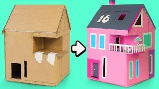 How to Make a Cardboard House | Amazing DIY Crafts with Boxes