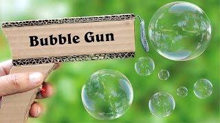 How To Make Bubble Machine at Home Using Cardboard and Dc Motor Bubble Gun Machine