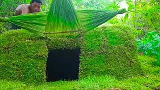 How to make Mini Underground House #PRIMITIVE SURVIVAL SKILLS