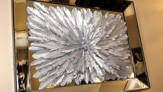 Featherless!!  ZGALLERIE Inspired Feathered Silver Wall Art DIY
