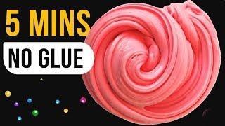 NO GLUE SLIME TEST! No Glue Slimes Under 5 Minutes!, Slime Masters