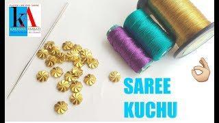 Latest Designer saree kuchu using crochet needle // 3 easy steps for saree kuchu