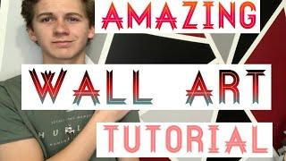 How to Paint your walls like a pro! | AWESOME DESIGNS | Geometric Wall Art/SHAPE DESIGN | Easton A21