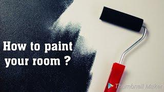 How to paint a room ! paint a wall in simple steps.