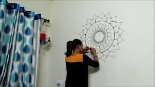 How to paint a mandala on wall (no stencils)