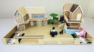How to Build a Beautiful House From Cardboard Compilation - (Dream house) - Model 04