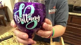 How To Make A Glitter Wine Glass With Epoxy - No ModPodge