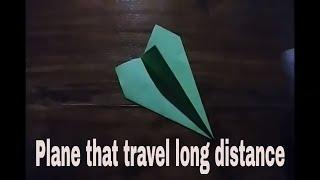 How to make paper airplanes that flies fast and far in 1 minutes