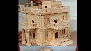 How to Make Modern House Building From Popsicle Stick | DIY Crafts Stick