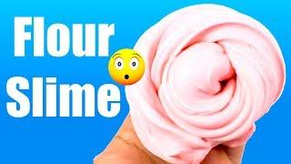 How To Make Slime With Flour, Glue And Baking Soda!! No Borax or Water Slime