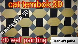 Cat tembok 3D- tutorial cat tembok 3D- 3D wall painting- wall art painting