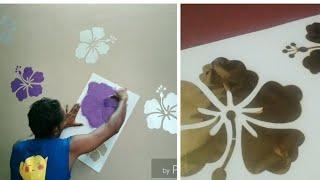Stencil 3D Royale plye metallic Decor Vinyl Reusable Wall texture wall paint wallpaper 3D रॉयल प्लये
