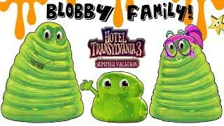 Hotel Transylvania 3 Summer Vacation: MAKING the BLOBBY FAMILY w/ Slime + Surprise Toys