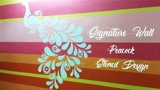 ???? Asian Paints Signature Wall - Peacock Stencil Design || Interior Design ????