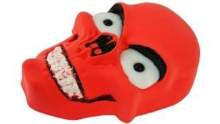 DIY How To Make Slime Kinetic Sand Red Skull Cake Learn Colors Painting for Kids