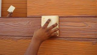 HOW TO MAKE A WOOD GRAIN PAINTING ON CEMENT PLANKS