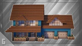 Minecraft: How To Build A Large Suburban House Tutorial (#7)