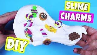 DIY POPULAR CANDY CHARMS FOR SLIME! Easy & Fast How to make your own slime decorations
