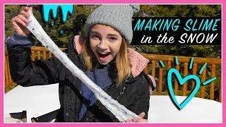 MAKING SLIME IN THE SNOW | Kayla Davis
