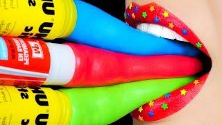 Toys in School! Pretend Play DIY Slime, Squishy School Supplies Pranks