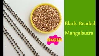 How to make Mangalsutra with black Beads || Latest model mangalsutra with silk thread