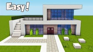Minecraft How To Build A Small Easy Modern House Tutorial