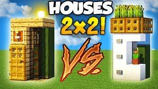 Minecraft: Smallest Wooden VS Smallest Modern House (How to Build Tutorial)