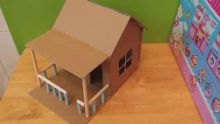 How to Make House From Cardboard/ House For Kids/ Making Paper House/ DIY Paper Craft Idea