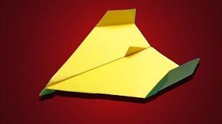 WORLD BEST PAPER AIRPLANE - How to make a simple paper airplane - Paper airplanes that fly far