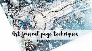 Easy art journal techniques | Ombre paint