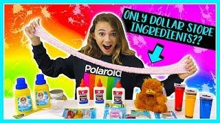 MAKING BEST FLOAM SLIME  with ONLY Dollar Store Ingredients | Kayla Davis