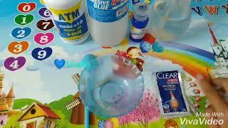 How to make slime color blue(Khmer)????????????????
