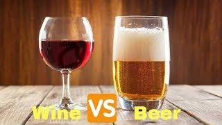 Booze Battles Beer Vs  Wine
