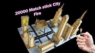 how to make a match house and street fire | match fire domino | the joker craft | art and craft