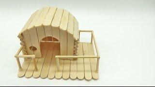 How to Make Popsicle Stick House for Hamster - Mini House